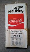 Vintage Coca Cola It's The Real Thing Coke Advertising Tin Sign Calendar 1970's