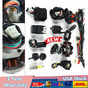 Electric Wiring Harness Wire Set Cdi Solenoid Stator For Gy6 125cc 150cc Go Kart