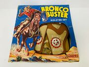 Vintage 1950s Bronco Buster Cowboy Holster Set Boxed Lone Ranger Toy