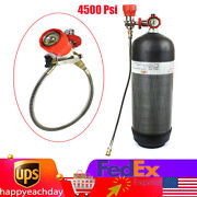 4500psi Scuba Scba Valve Fill Station With Hose For Pcp Air Tank M18x1.5 Thread