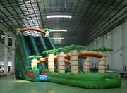 50x15x25 Inflatable Bounce House Castle Ball Slide Trampoline Commercial Pvc