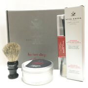 Acca Kappa Set Gift Barber Shop Collection Soap From Beard 8.5oz + Brush