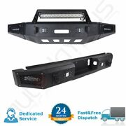 Aggressive Style - Front Rear Bumper Built-in 5 Led Lights For Ford F150 15-17