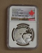 2018 Canada 1 Oz 15 Silver Magnificent Bald Eagles Proof Ngc Pf69uc 1st Release