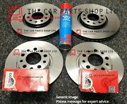 For Vw Golf R Mk7 2013 Front And Rear Brake Discs With Genuine Trw Pads Oe Parts