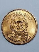 Sitting Bull The Sioux Tribe Franklin Mint Commemorative Coin Medal