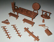 Marx 1960s Fighting Knights Carryall Play Set Accessories