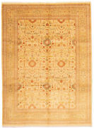 Vintage Hand-knotted Carpet 10and0390 X 13and0396 Traditional Geometric Wool Area Rug