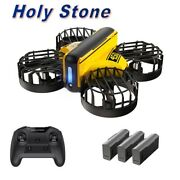 Hand Operated Droneholy Stone Hs450 Mini Obstacle Avoidance Quadcopter 3 Battery