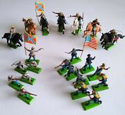 Lot Of 22 1971 Britains Deetail Civil War Confederate And Union Toy Soldiers