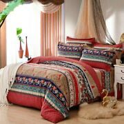 100 Cotton Bohemia Stripe Bedding Set For Autumn And Winter Twin Queen Size