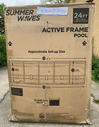 Summer Waves 24 Ft Active Frame Round Above Ground Swimming Pool Pickup Only