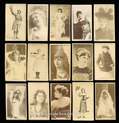 Late-1800s Old Tobacco Actress Cards Lot Of 321 Wow Great Find Rare Lot