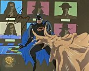 Bruce Timm Cel Batman And Clayface Feat Of Clay Pt 2 Signed Monitors Btas Wb Coa