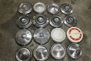 Lot Of 16 Vintage Ford Poverty Dog Dish Hubcaps