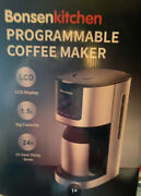 Bonsen Programmable Thermal Coffee Maker 10 Cup Stainless Steel Coffee Machine