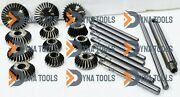 22x Valve Seat And Face Cutter Set Of 12 Pcs High Carbon Steel Engine Heads Repair