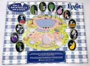 Disney Remyand039s Ratatouille Hide And Squeak 2015 Complete Set Of 12 Pins Map Epcot