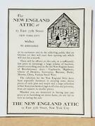 New England Attic Antiques Sales 1929 Print Ad Nyc Boston Hooked Rugs Vintage