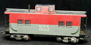 Marx 20102 Nyc New York Central Pacemaker Caboose – Tin Litho – O Scale Usa