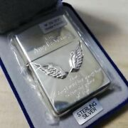 Zippo Angel Wing Limited Discontinued Product Sterling With Serial Number Rare