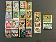Lot Of 30 1972 Topps Football Cards Hof Stars Rookies Commons Ex-exmint