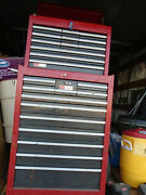 Vintage Sears Craftsman Roll Away Cabinet Tool Chest Cabinet W Key 24 Drawers