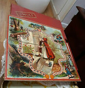 Vintage Victorian Antique Board Game Little Red Riding Hood The Wolf Complete