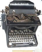 Antique Early 1900s Lc Smith Secretaries Typewriter Good Overall Needs Attention