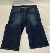 Calvin Klein Low Rise Flare Womenand039s Blue Jeans Size 10 Dark Stretch