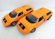 2 Vintage Schuco Servo Mercedes C111 1/16 Battery Operated Wired Rc Toy Cars