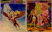 She Ra Princess Of Power 2 Golden Tray Puzzles Glow-in-the-dark New Sealed