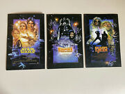 Star Wars Movie Trilogy Metal Tin Wall Signs 9 X 13 Open Road Brand