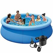 Kracie Swimming Pools Aboved Ground Pool For Backyard - 10ft 30in Inflatable Swi