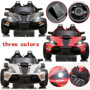 2 Seats Kids Car Led 12v Ride On Racer Cars Electric Cars Music Remote Control