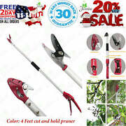 Mesoga 4 Feet Cut And Hold Tree Pruner Rotation Pole Tree Trimming Long Reach