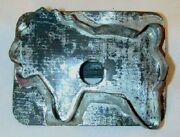 Antique Southeastern Pennsylvania Tin Flat-back Cookie Cutter In Lion Form-4