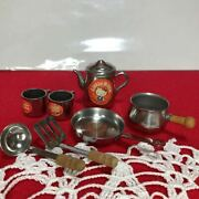 Hello Kitty Little Silver Set Kitchen 5-piece Showa Retro Things At The Time Old