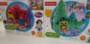 Fisher Price Little People Disney Ariels Castle And Snow Whites Cottage New Rare