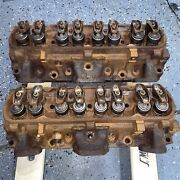1972 Pontiac 455 7l4 Cylinder Heads 2.11 1.77 Valves 114cc Combustion Chambers.