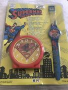 Superman The Man Of Steel Clock And Watch