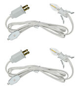 Single Light Replacement Clip In Lamp Cord For Christmas Village W/ Led Bulb 2pk