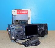 Icom Ic-756pro Hf/50mhz All Mode Transceiver 100w W/ Mic And Manual