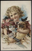 Victorian Trade Card 1880s Pabst Malt Extract The Best Tonic Child Pets Vtc-g176