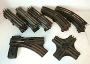 Vintage Lionel O-scale Track Lot Marked Ny, 15 Straight 10 Curved 042 Switch 020
