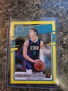 2020-21 Donruss Lamelo Ball Rated Rookie Yellow Flood And Base Cards. Roy