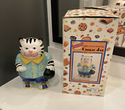 Cat Cookie Jar Al The Alley Kitty Bowling Fitz And Floyd Black/white Tabby 1993