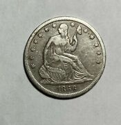 1866-s Seated Liberty Half Dollar Vf Lower Mintage - Cleaned Discount