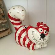 Disney Alice In Wonderland Trump-patterned Chesha Cat Pottery Piggy Bank With