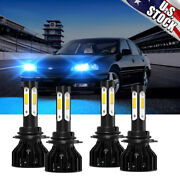 8000k Combo Front Led Headlight High Low Beam Bulbs For 2000-2005 Chevy Impala
